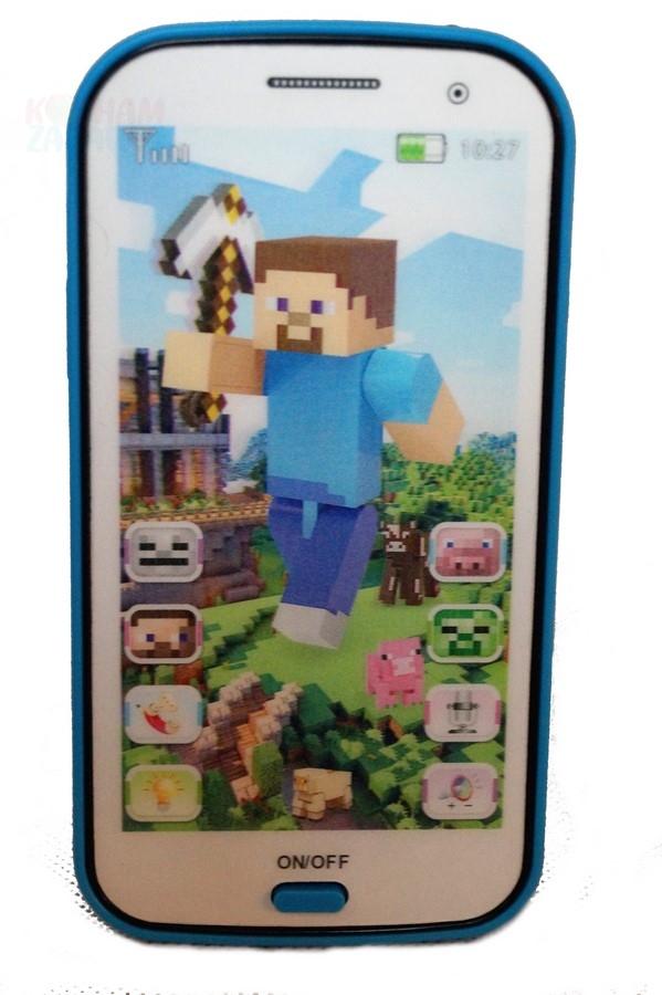 b0207ce214 Smartfon zabawka dla dzieci telefon Minecraft