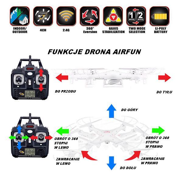 dron quadrocopter AirFun