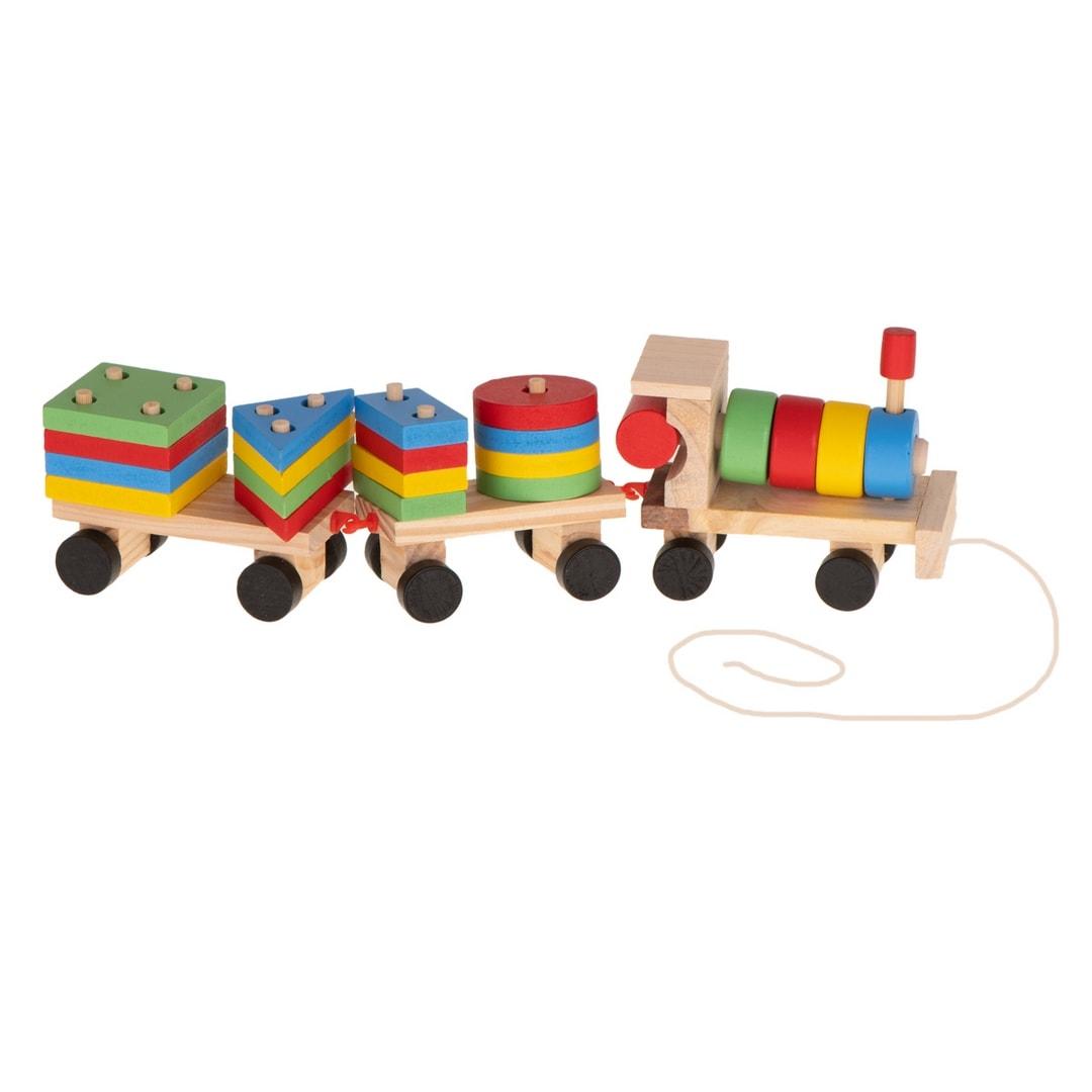Sorter drewniany Pociąg Lokomotywa